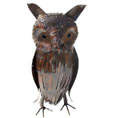 Owl Welding Machine, Steel Sculpture, Light Oak, Sculptures, Owl, Bird, Metal, Animals, Animales