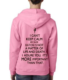 BATON Is Important  Missy Zippered Hooded by AmarisCloset on Etsy, $35.00