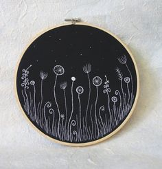 Hand Embroidery Hoop Wall Art Repinned by LazyDaisyTotes www.etsy.com/shop/LazyDaisyTotes