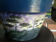 trees on lighthouse ship flower pot I did.