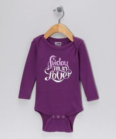 Look at this Eggplant The Songwriter Organic Long-Sleeve Bodysuit - Infant on #zulily today!