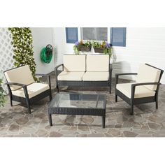 Found it at AllModern - Cade 4 Piece Deep Seating Group Set with Cushion