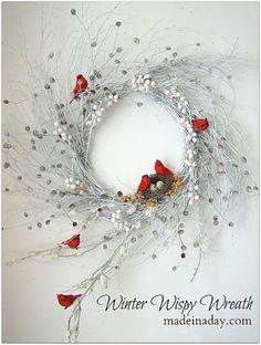 Totally Inspiring Christmas Wreaths Decoration Ideas As White As Snow 27