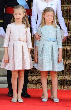 Princess Leonor and Infanta Sofía.