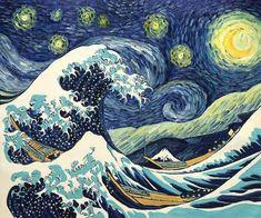 The great wave off a starry night