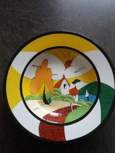Plat rond et creux en porcelaine, décor paysage : Cuisine et service de table par les-pinceaux-de-sophie