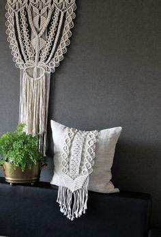 Macrame pillow, Macrame wall hanging