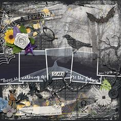 I Am Scared, Digital Scrapbooking, Scary, Artsy, Layout, Templates, Create, Shop, Stencils