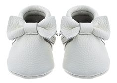 Sayoyo Baby White Bow Tassels Soft Sole Leather Infant Toddler Prewalker Shoes 06 months White *** Find out more about the great product at the image link.Note:It is affiliate link to Amazon.