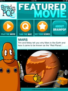 BrainPop--watch a new video every day  iPod/iPad/iPhone