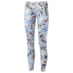 Mighty+Fine+Disney+Frozen+Olaf+Leggings hate to admit but I kinda love these!!!! $21 at kohls.com