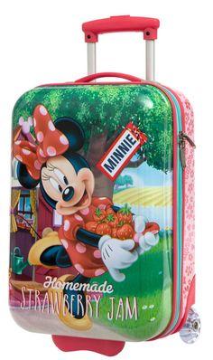 Maleta infantil de cabina Minnie modelo strawberry de dos ruedas