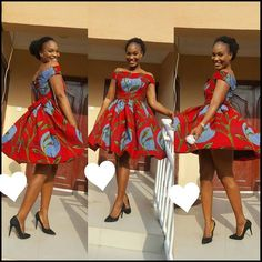 Trending Short Ankara Gowns 2018 By short native gown we mean short Ankara dress styles. We are really into short pieces right now because they are comfortable and airy. Short African Dresses, Latest African Fashion Dresses, African Print Dresses, African Print Fashion, Africa Fashion, Trendy Ankara Styles, Ankara Gown Styles, Ankara Dress, Ankara Gowns