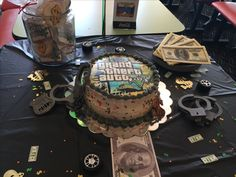 Grand Theft Auto V Cake For Gamestop In 2019 Birthday