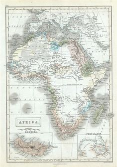 Rare Map for Sale: 1851 Black Map of Africa at Geographicus Rare Antique Maps Vintage Maps, Antique Maps, Rare Antique, By Any Means Necessary, Desenho Tattoo, Out Of Africa, Old Maps, Historical Maps, Antiques