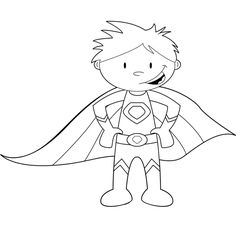 childrens superhero coloring pages | Coloring Pages For Kids