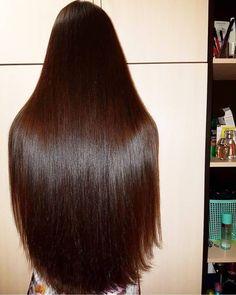 Long Silky Hair, Silky Smooth Hair, Long Dark Hair, Beautiful Long Hair, Gorgeous Hair, Wig Hairstyles, Straight Hairstyles, Rapunzel Hair, Natural Hair Styles