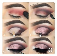 Lidschatten-Tutorial Eyeshadow Tutorial make up # Eye shadow make up Makeup Tips Eyeshadow, Eyeshadow Looks, Peachy Eyeshadow, Eyeshadow Styles, Contour Makeup, Drugstore Makeup, How To Eyeshadow, Glitter Eyeshadow Tutorial, Eyeshadow Crease
