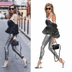 130 отметок «Нравится», 2 комментариев — Fashion Illustrator (@lilyfashionsketch) в Instagram: «New sketched outfit @alexandralapp_ by #LilyFashionSketch . You can see how I did this…»