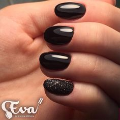 Autumn nails, Black glossy nails, Black nail art, Classic nails ideas, Classic short nails, Evening nails, Everyday nails, Fall nails ideas