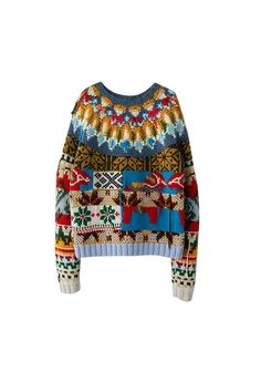 Acne Studios' New Limited Edition Hand-Knit Wool Sweaters Are Very Nordic Cozy: Sweater weather is officially here. Fair Isle Pullover, Handgestrickte Pullover, Pullover Design, Sweater Design, Christmas Jumpers, Ugly Christmas Sweater, Christmas Christmas, Knitwear Fashion, Sweater Fashion