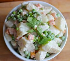 Ensalada Rusa or Russian Salad is a popular dish in Colombia and other Latin American countries. I remember eating this delicious potato salad as a side dish to Colombian Dishes, Colombian Food, Colombian Recipes, Salad Recipes, Healthy Recipes, Good Food, Yummy Food, Spanish Food, Roasted Potatoes