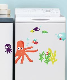 Take a look at this Octopus Water-Resistant Decal Set by Nouvelles Images on #zulily today!