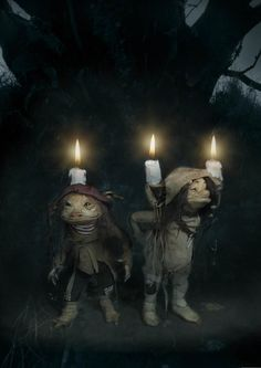 """Candle Trolls by Wendy Froud, 13"""" tall, Featured in """"Trolls"""" the book   More Froud Family @ http://groups.google.com/group/Froud & http://groups.yahoo.com/group/Froud"""