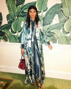 Giovanna Battaglia Engelbert wearing For Restless Sleepers pajamas and robe