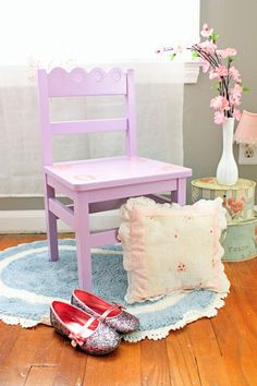 Happy Now: DIY Custom Painted Girls Chair