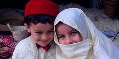 Algerian child - Cute siblings