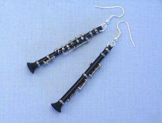 Clarinet earrings?!?! These would've matched my clarinet necklace charm!! :)