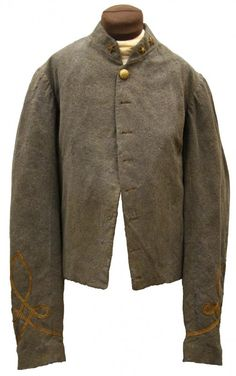 Uniform coat worn by Colonel Frank A. Montgomery who served in Forrest's Cavalry.