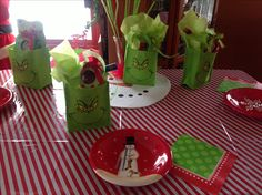 Grinch Christmas for kids table