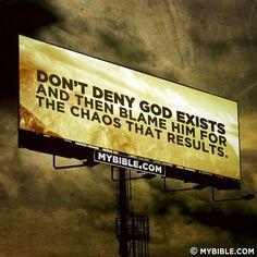 No blaming God.