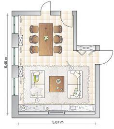Zwei Wohnbereiche sauber getrennt - Wohn- und Esszimmer - [SCHÖNER WOHNEN]