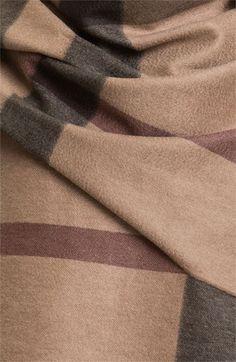 Burberry London Cashmere Serape. Cozy up for autumn