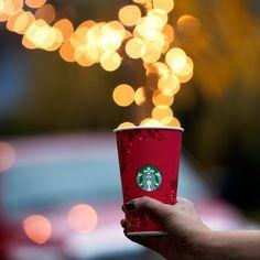 Pin for Later: Starbucks Red Cups Have Arrived! 30 Snaps For Festive Inspiration Cup of Joy Starbucks Christmas, Starbucks Secret Menu, Starbucks Drinks, Starbucks Coffee, Christmas Time, Christmas Coffee, Christmas Foods, Thanksgiving Holiday, Christmas Things