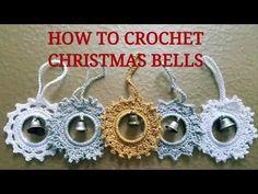FREE CROCHET TUTORIAL! SILVER STAR! Learn to crochet Christmas bells!