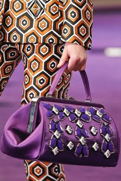 PRADA, violet doctor's bag