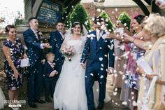Grosvenor Pulford Chester Wedding Blue Photographer Jess Yarwood www.jessyarwood.co.uk confetti