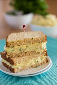 "Burmese Chickpea Tofu ""Egg"" Salad Sandwiches"