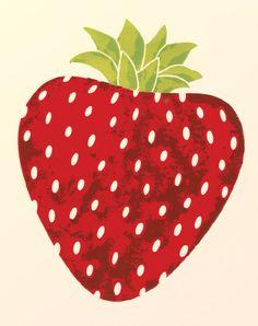 Strawberry Kitchen Wall Art Print 8x10 by libbylamb on Etsy.