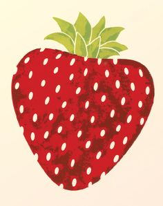 Strawberry Kitchen Wall Art Print 8x10 by libbylamb on Etsy.