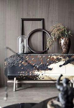 Best 35 Home Decor Ideas - Lovb Luxury Furniture, Decor, Modern Buffet, Interior Design Trends, Sideboard Designs, Interior, Interior Styling, Home Decor, Furniture Design
