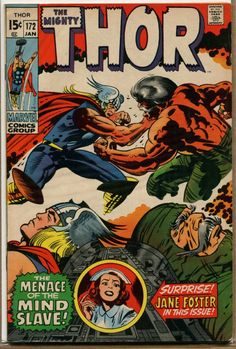 Anthony's Comic Book Art :: Collectibles :: Comic Books ::Thor #172 - Immortal and the Mind-Slave! - 1970 (Grade 6.0) WH