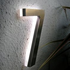 "Luxello MODERN LED HOUSE NUMBER 5"" OUTDOOR : Surrounding Australia"