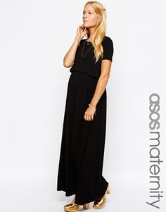 ASOS Maternity NURSING Maxi Dress With Double Layer