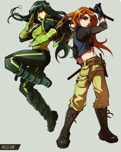Kim Possible and Shego!