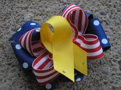 boutique PATRIOTIC SUPPORT our TROOPS 4th of July Bows by andjane, $9.99 Little Bow, Little Girls, Ribbon Bows, Ribbons, Army Wreath, Crafts To Do, Diy Crafts, Military Deployment, Hair Bow Tutorial